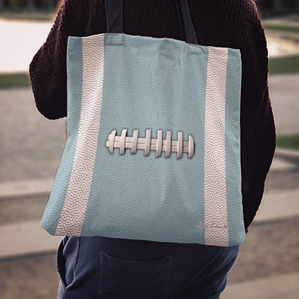 Football Light Blue Linen Tote Bag