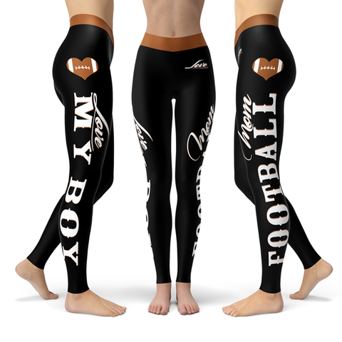 Football Mom Love My Boy Premium Leggings JA23