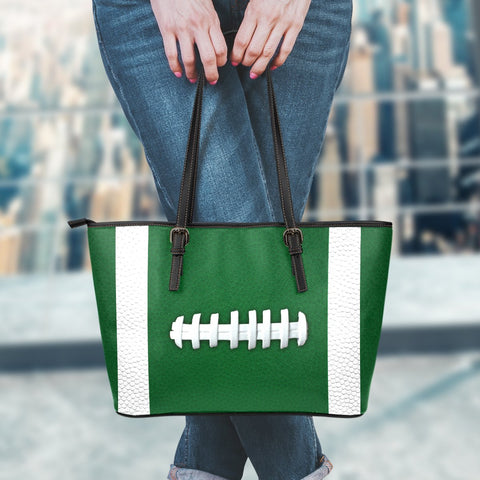 Football Green Leather Handbag