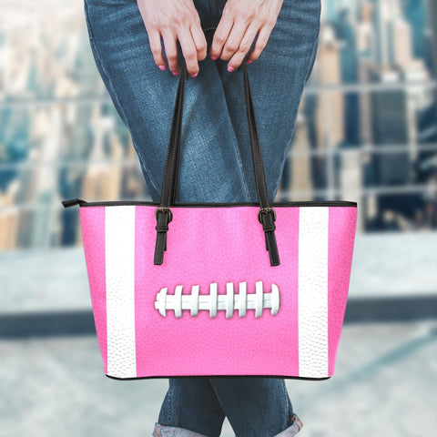Football Hot Pink Leather Handbag