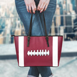 Football Maroon Leather Handbag