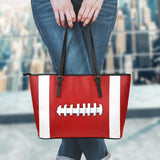 Football Red Leather Handbag