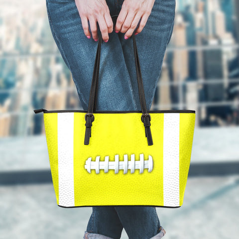 Football Yellow Leather Handbag