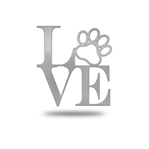 LOVE Dog Paw Steel Wall Decor JASD1008