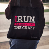 I Run To Burn Off Linen Tote Bag AL65