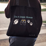 I'm A Simple Woman Football Linen Tote Bag AL51