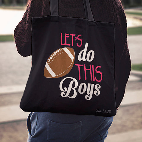 Let's Do This Boys Football Linen Tote Bag AL46