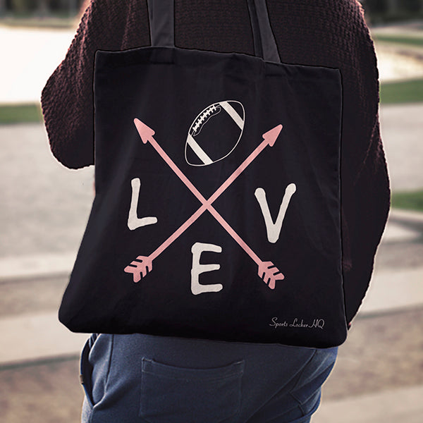 Love Arrow Football Linen Tote Bag AL71