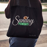 Sunday Funday Football Linen Tote Bag AL79