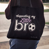 Supporting My Little Brother Linen Tote Bag AL81