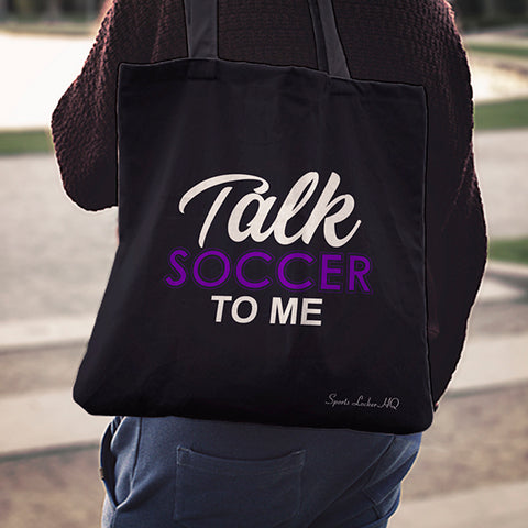 Talk Soccer To Me Linen Tote Bag AL85