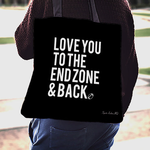 Football Love Endzone Linen Tote Bag SA301