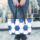Soccer Blue Leather Handbag
