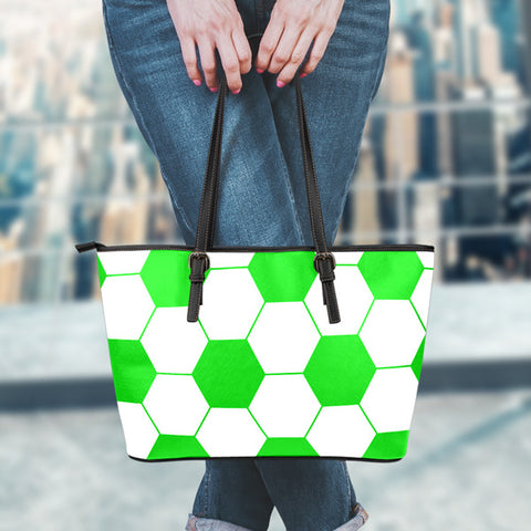 Soccer Kelly Green Leather Handbag