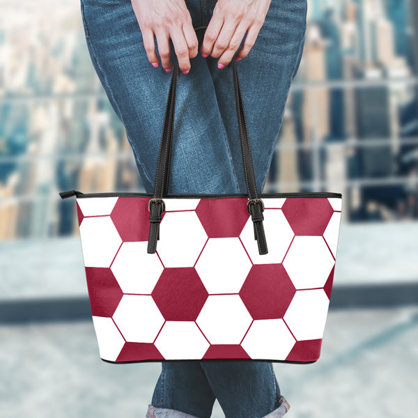 Soccer Maroon Leather Handbag