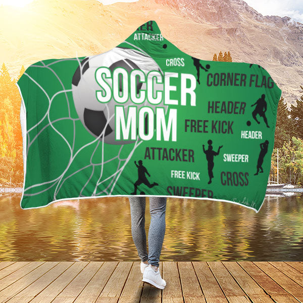 Soccer Mom Premium Hooded Blanket JAHB1012
