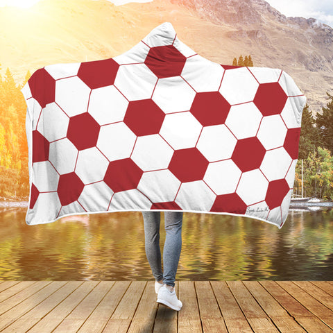 Soccer Red Premium Hooded Blanket