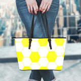 Soccer Yellow Leather Handbag