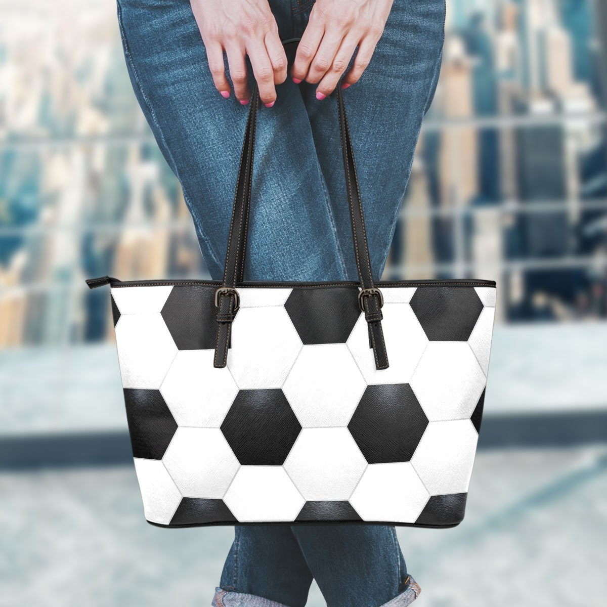 Soccer Leather Handbag