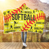 Softball Premium Hooded Blanket JAHB1006