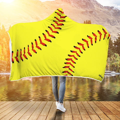 Softball Premium Hooded Blanket