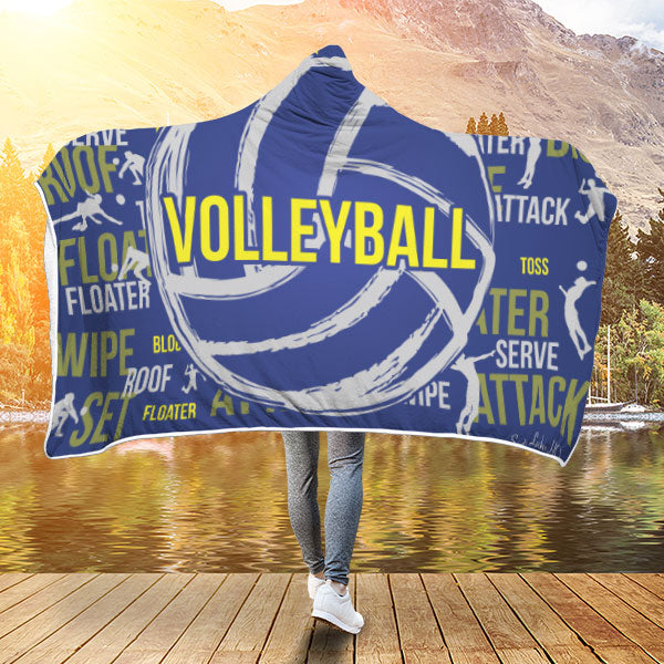Volleyball Premium Hooded Blanket JAHB1021