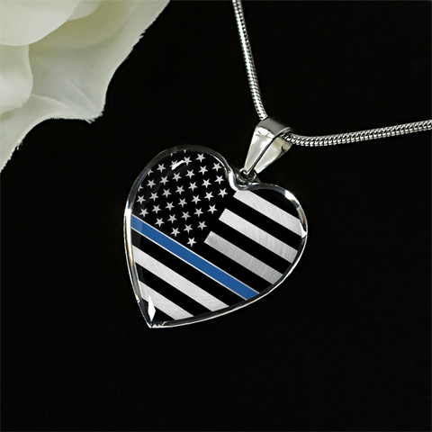 Thin Blue Line Heart Pendant (LImited Edition)