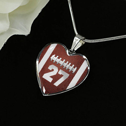 Football #27 (Original) Heart Pendant