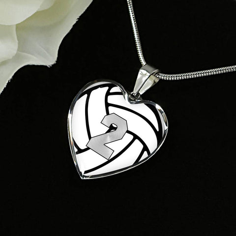 Volleyball #2 (Original) Exclusive Heart Pendant Necklace