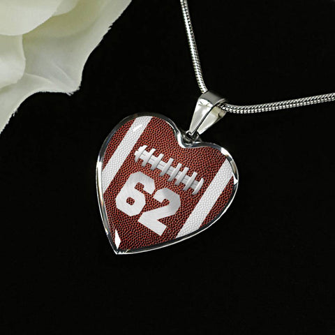 Football #62 (Original) Heart Pendant