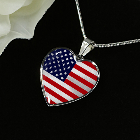 American Flag Heart Pendant (Limited Edition)
