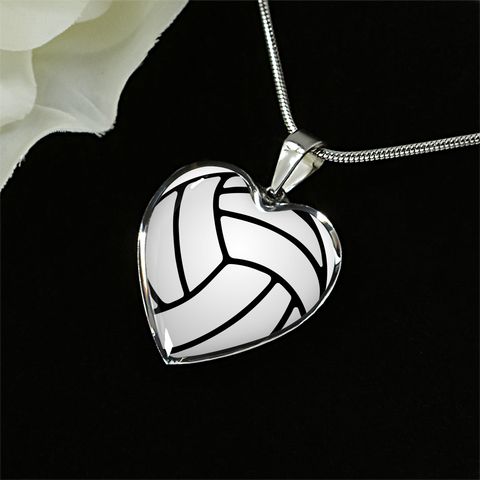 Volleyball Heart Pendant