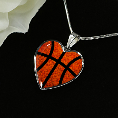 Basketball Heart Pendant