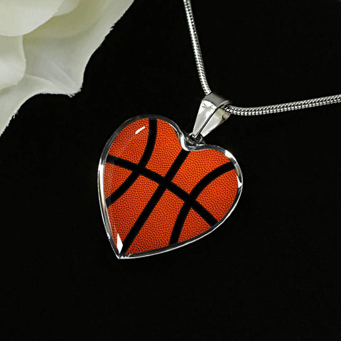 Basketball (Original) Exclusive Heart Pendant Necklace