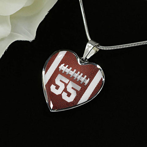 Football #55 (Original) Heart Pendant