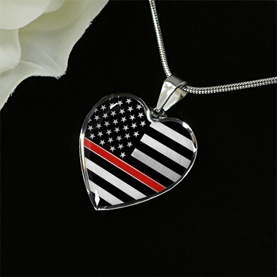 Thin Red Line Heart Pendant (Limited Edition)