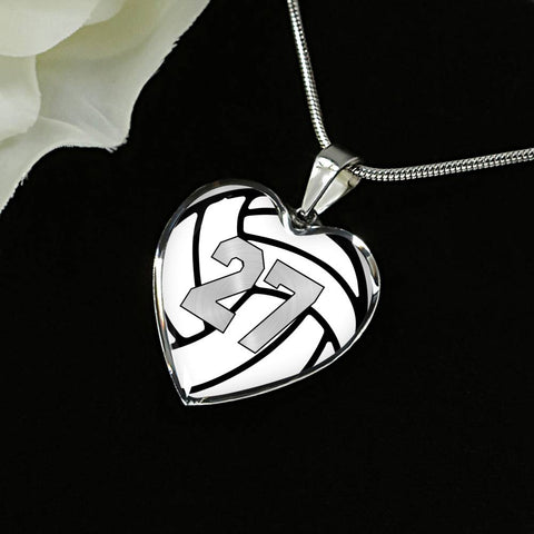 Volleyball #27 (Original) Exclusive Heart Pendant Necklace