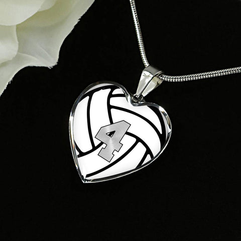 Volleyball #4 (Original) Exclusive Heart Pendant Necklace
