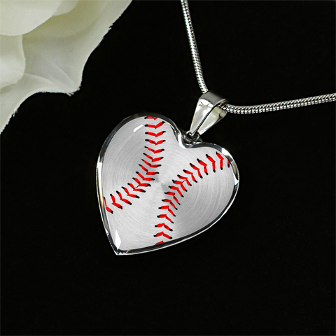 Baseball-Softball Stitching Heart Pendant (Limited Edition)