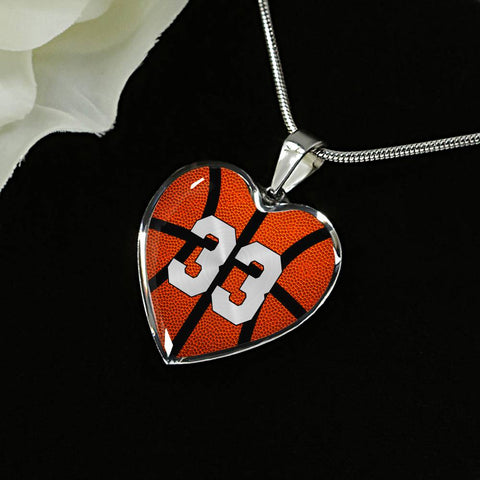 Basketball #33 (Original) Exclusive Heart Pendant Necklace