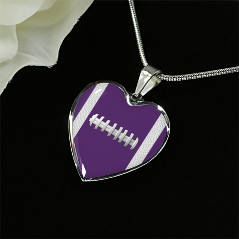 Football Purple Heart Pendant