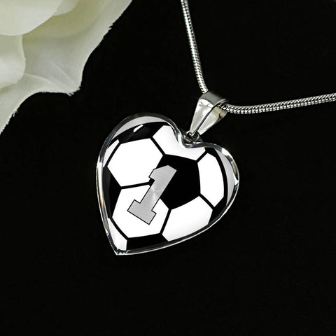 Soccer #1 (Original) Exclusive Heart Pendant Necklace