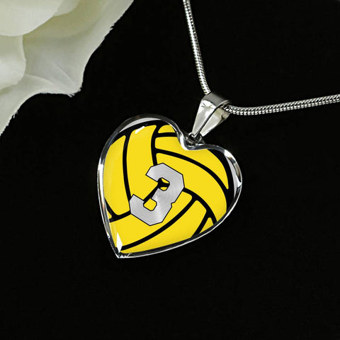 Water Polo #3 (Original) Exclusive Heart Pendant Necklace