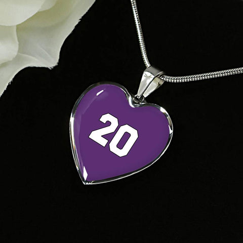 #20 Heart Pendant Necklace Purple