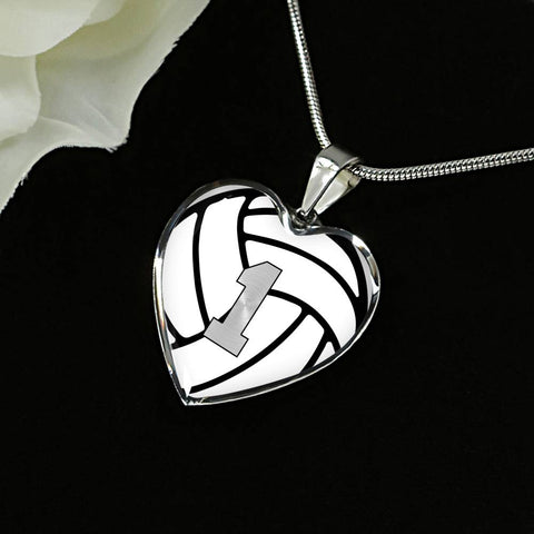 Volleyball #1 (Original) Exclusive Heart Pendant Necklace