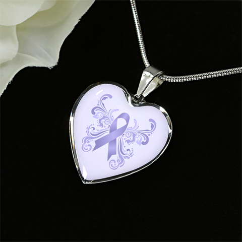 All Cancers Awareness Heart Pendant V1