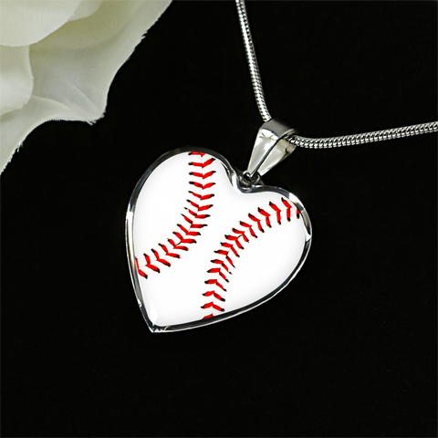 Baseball Heart Pendant
