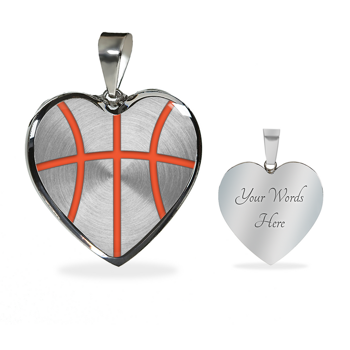 Basketball Orange Heart Pendant (Limited Edition)