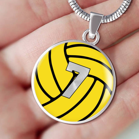 Water Polo #7 (Original) Exclusive Round Pendant Necklace