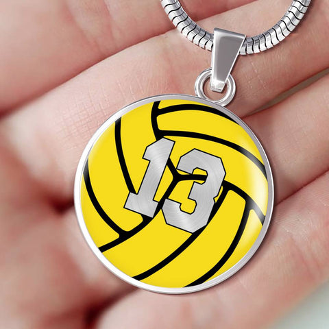 Water Polo #13 (Original) Exclusive Round Pendant Necklace